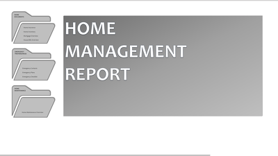 Create a complete digital household Management system template