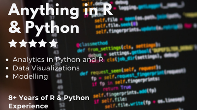 Do Programming and Analytics in R,  R Studio and Python