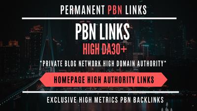Do Permanent 100 Contextual Backlink from high DA 20-30+ /TF 15+