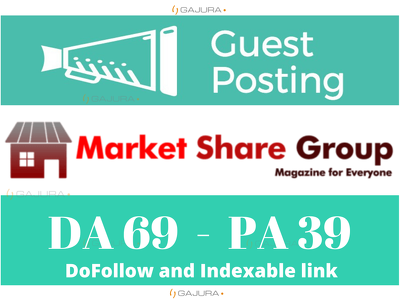 Write and Publish Guest Post on Marketsharegroup.com