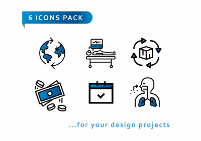 Design a set of 6 icons for your project ( New for 2020 )