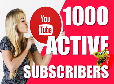 Send 1000+ real and active subscribers to your YouTube channel