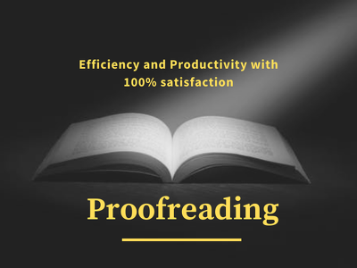Proofread your Article/Blog Content (1000 Words)