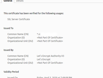 Generate and install wildcard Letsencrypt certificate
