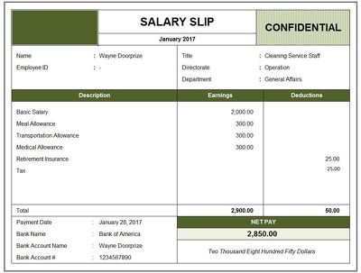 Payroll & Salary Slip Within 1Day