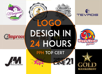 Design premium Logo + Unlimited Concepts & Revisions + Files 24h