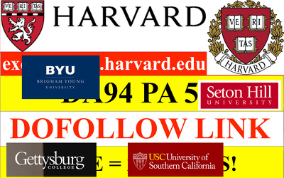 Guest Post On cyber.harvard.edu and many .EDU available.