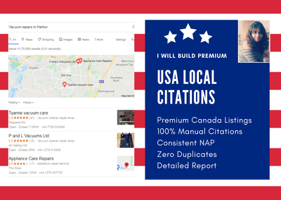 Create 200 best USA local citations