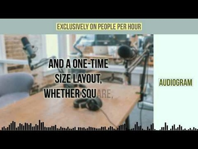 Create 1-minute Audiogram video for podcast promotion