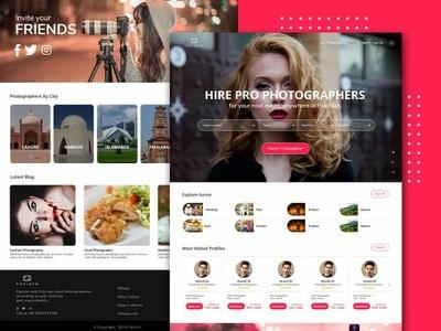Create website design or app design
