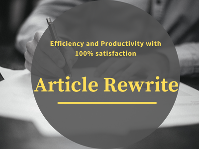 Rewrite Articles to make it original (up to 1000 words)