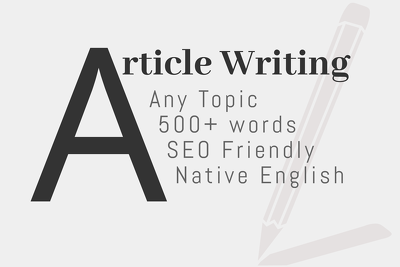 Native English, SEO Friendly Content For Blog Posts & Articles
