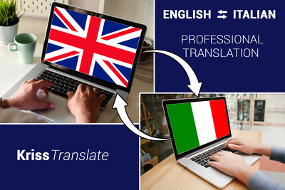 Professionally translate English to Italian and back