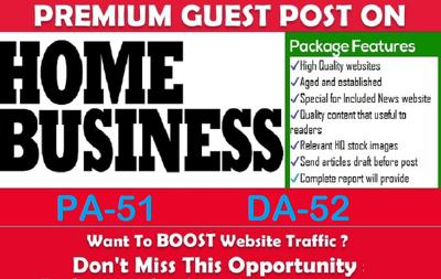 write and Publish Premium Guest Post on homebusinessmag.com