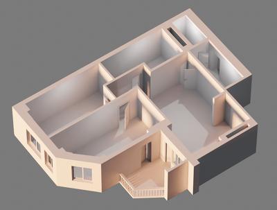 Convert your 2D plan to a 3D render