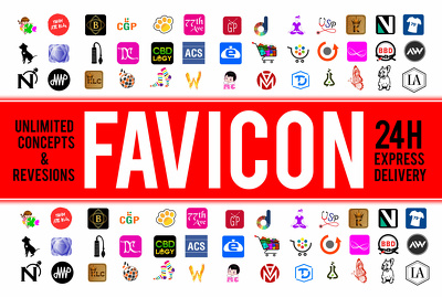 Do elegant icon, favicon and logo design within 24hrs