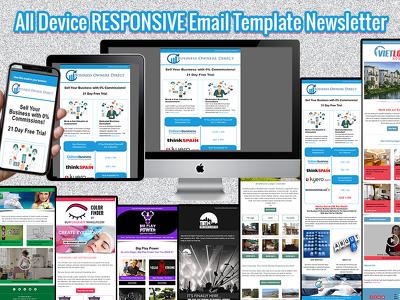 Design Responsive & Editable Malchimp Email Template