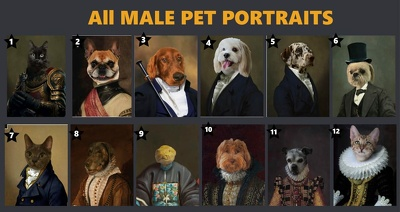 Make custom pet portrait, dog portrait, cat portrait