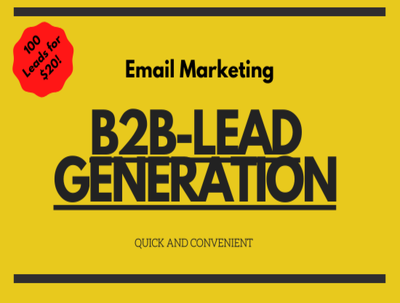 Do email marketing and B2B Lead Generation for as cheap