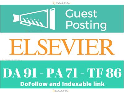 Premium Guest Post on Elsevier - Elsevier.com DA 91