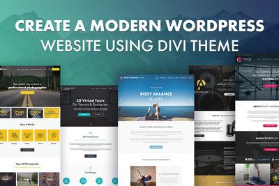 Create a modern website using Divi Theme - Responsive + SEO
