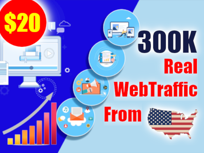Send 200,000 real traffic from the USA
