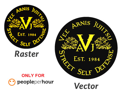 Convert your existing logo to VECTOR within 6 HOURS
