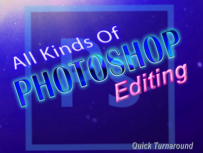 Do any kind of Photoshop editing of 1 image
