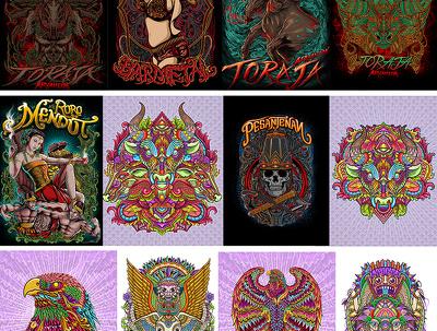 Design awesome and detail illustration vector design