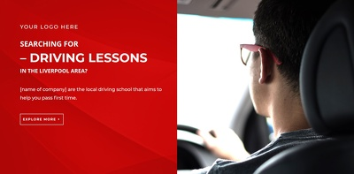 Driving Instructor 1 Page Website