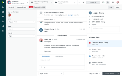 Configure your Zendesk account for 1 agent, 5 support emails