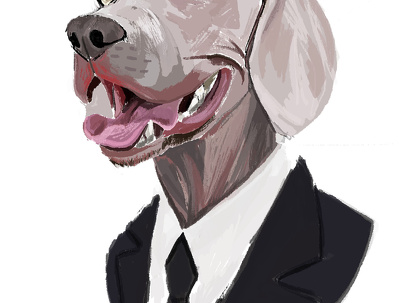 Draw you a portrait of your pet in this style