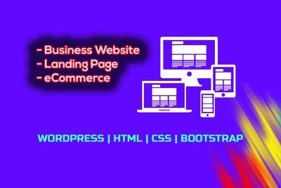Design WordPress or HTML landing page website in 12 hours