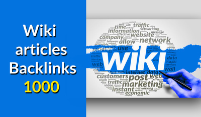 Create 1000 wiki contextual back links for your site