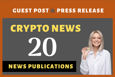 Write and publish guest post on 20 crypto news website
