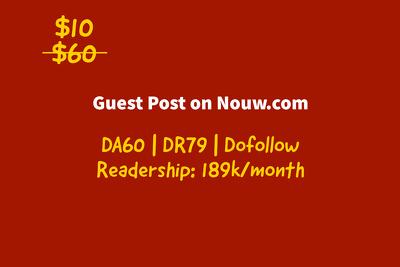 guest Posting on nouw.com   Dofollow   DA60, DR79