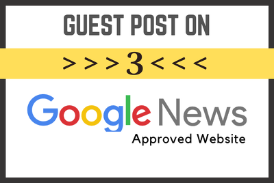 Guest post on 3 google news site with do follow link