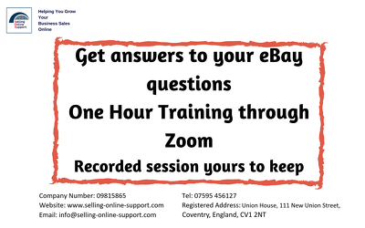 provide One Hour's eBay Advice, Help or training through Zoom