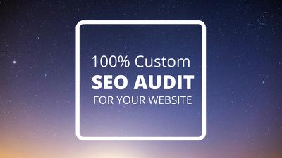 100% Custom SEO Audit to Rank No.1 in Google