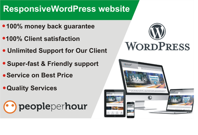 Redesign WordPress blog and customize WordPress website