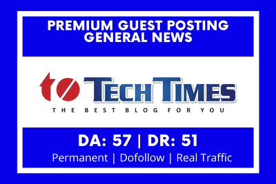Guest posting on general blog DA 57 DR 51