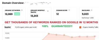 monthly SEO Package Rank 5,000 Keywords On Google USA - UK