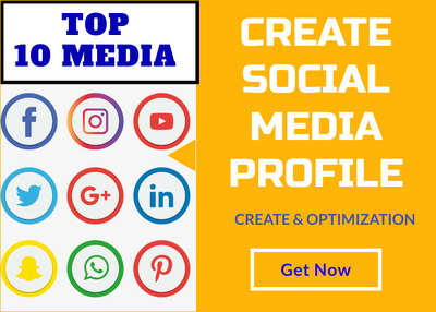 Create top 10 social media profiles for your website/video