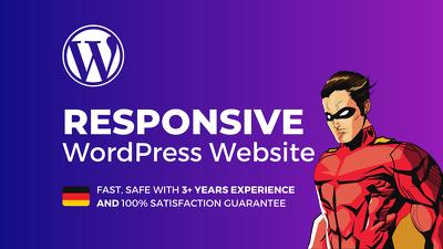 Design a responsive wordpress website or blog in 24 hours
