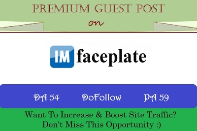 publish Guest Post on imfaceplate.com - DR 72