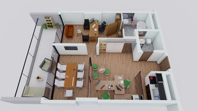 2D to 3D Floor Plan Only Within 1 Day