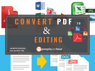 convert PDF files to Word/Excel files or Edit PDF files