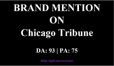 publish your article at ChicagoTribune.com -- Brand Mention