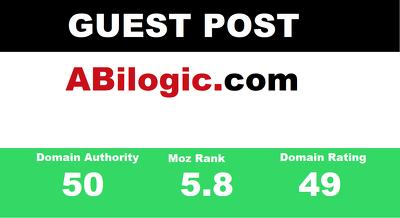 publish Guest Post on  Abilogic - Abilogic.com  DA 50 Dofollow