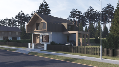 Exterior 3D render up to 200 sq. m.
